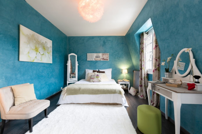 finition chambre turquoise