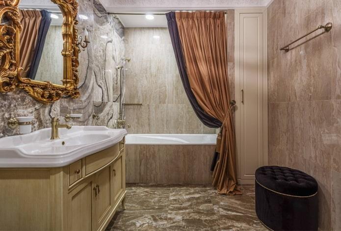 Rideau de bain double