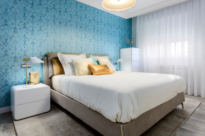 meubles à l'intérieur de la chambre bleue