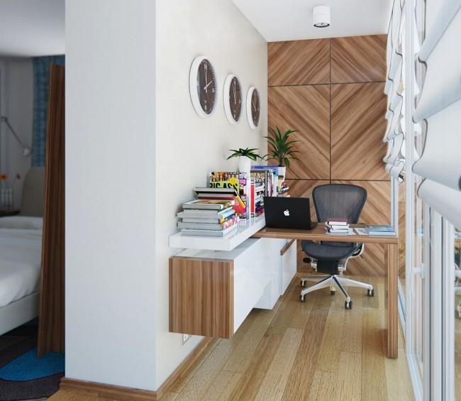 Table transformable adaptée aux balcons étroits