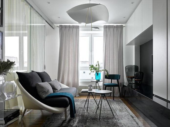 salon carré de 16 m².