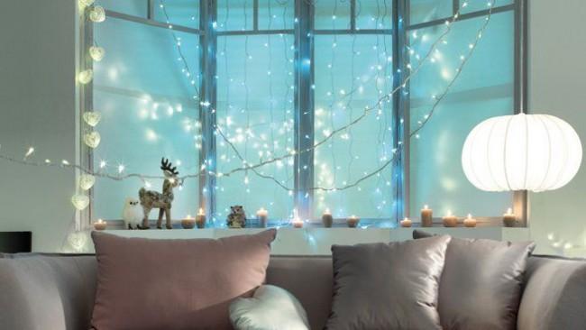 La guirlande LED décorera votre maison pour les vacances