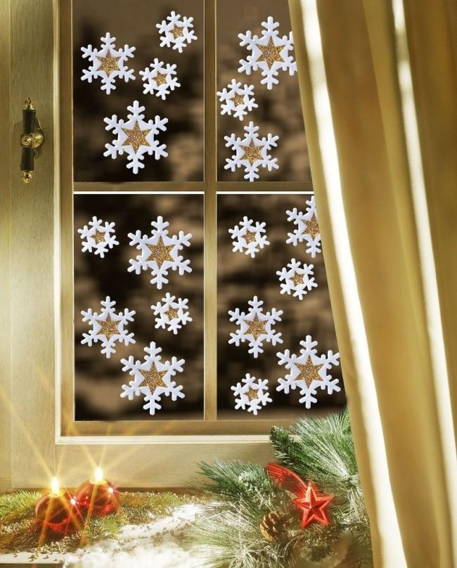 Autocollants de fenêtre de flocon de neige en vinyle