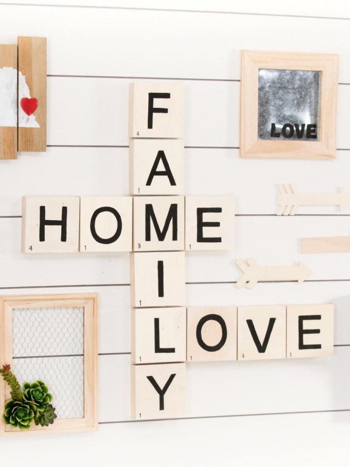 Des mots sur le mur