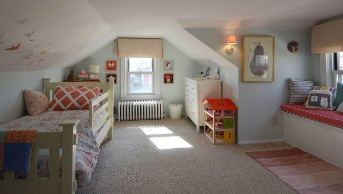 chambre d'enfant légère pour les filles