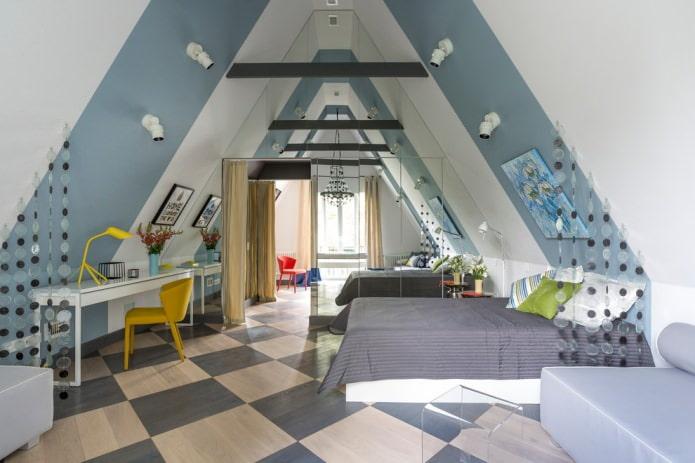 chambre pour un adolescent dans un style moderne