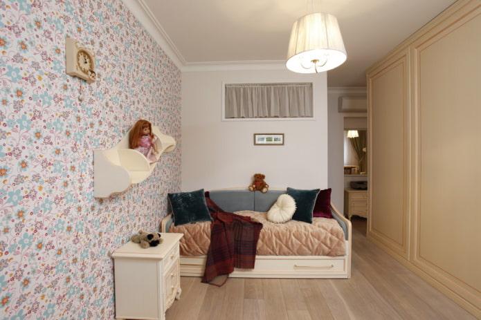 couleurs de l'intérieur d'une chambre d'enfant de style provençal