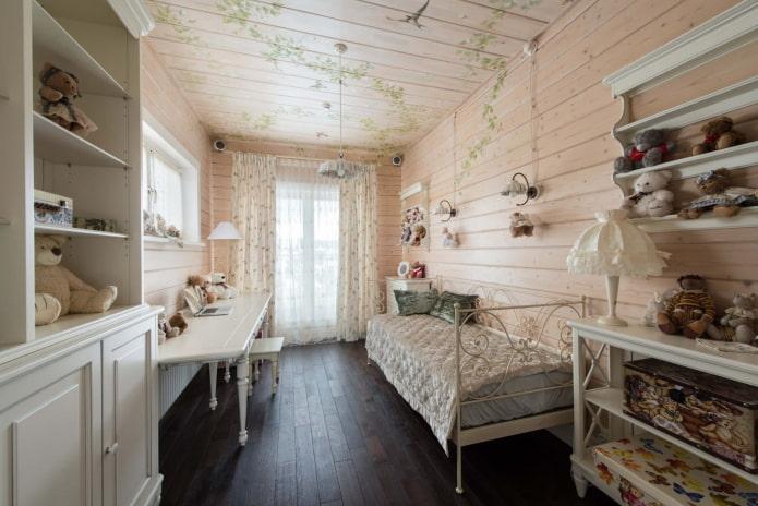 chambre pour filles de style provençal