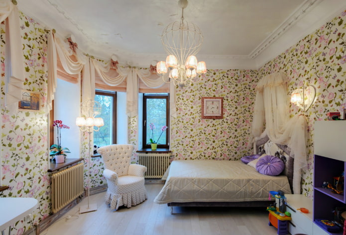 Eclairage chambre d'enfant de style provençal