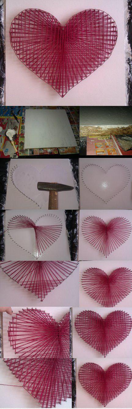 Un excellent cadeau pour la Saint-Valentin est un panneau représentant un cœur.  Instructions détaillées pour créer un dessin