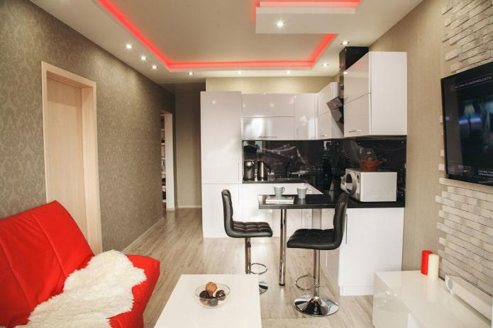 Studio avec canapé