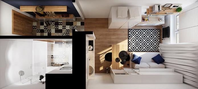 agencement studio 18 m²