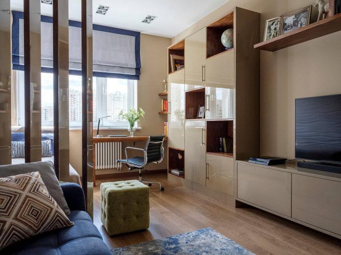 Couchage dans le salon 15 m².