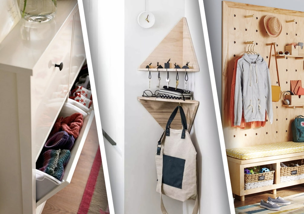 10 idées pour ranger des choses dans un petit couloir