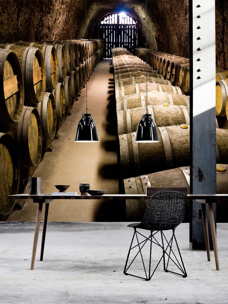 Cave à vin et intérieur minimaliste