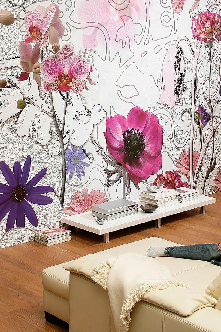Une combinaison intéressante de différentes manières de représenter les fleurs - photos, contours et images dessinées