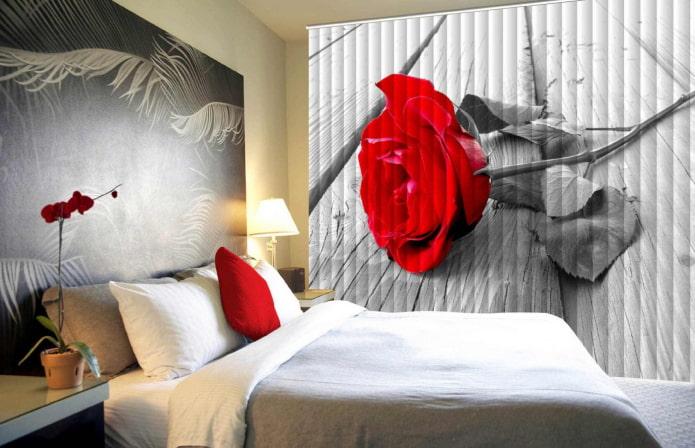stores avec impression photo à l'intérieur de la chambre