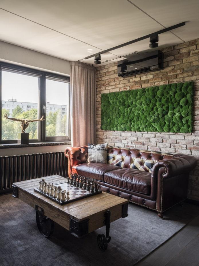 table basse de style loft