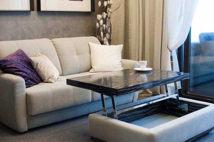 table basse à hauteur variable