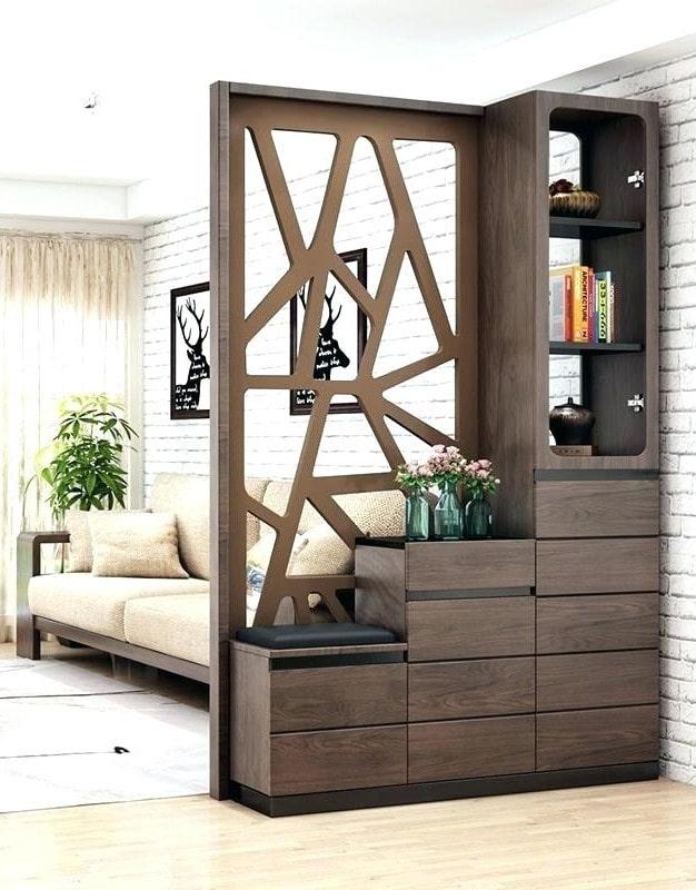 armoire avec une échelle en forme de cloison à l'intérieur