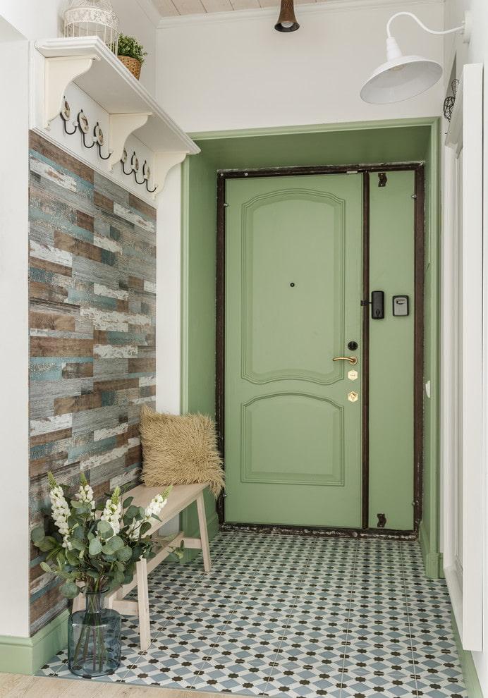 portes d'entrée colorées à l'intérieur
