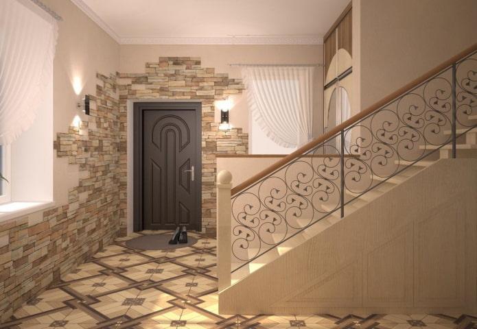 décoration de porte avec pierre à l'intérieur