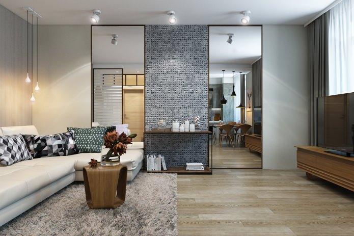 conception d'appartement 67 m².  m.