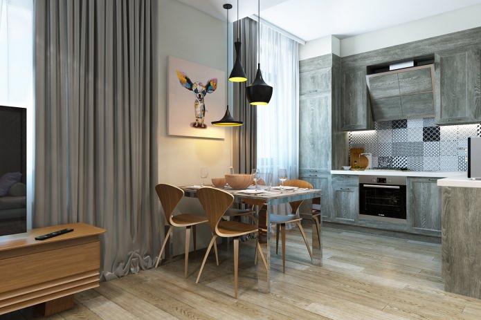 intérieur d'un bel appartement moderne