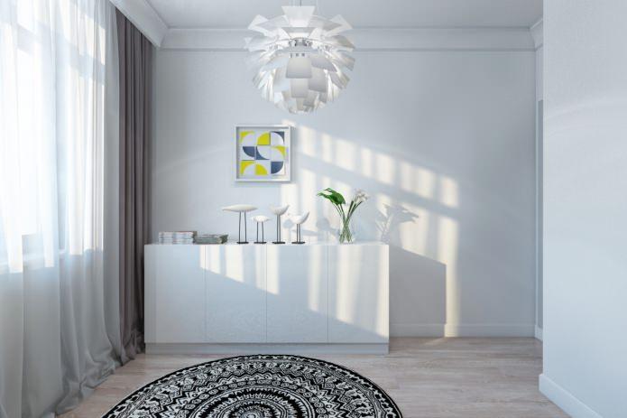 commode blanche dans un bel appartement moderne