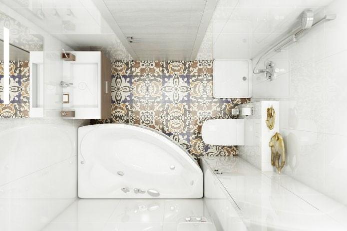 salle de bain dans un bel appartement moderne