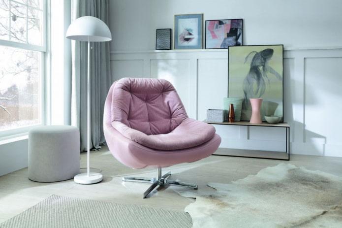 chaise souple pivotante