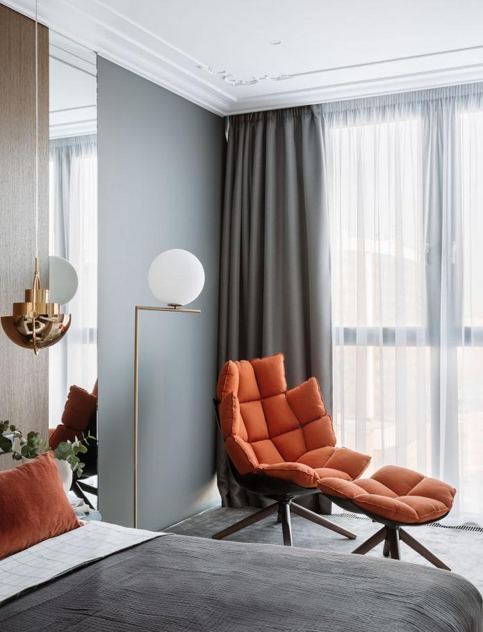 fauteuil futuriste dans la chambre