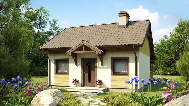 Projet de mini-maison à partir de matériaux combinés