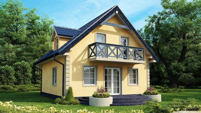 Projet de petite maison en jaune