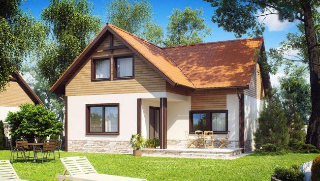 Projet de petite maison avec étage mansardé