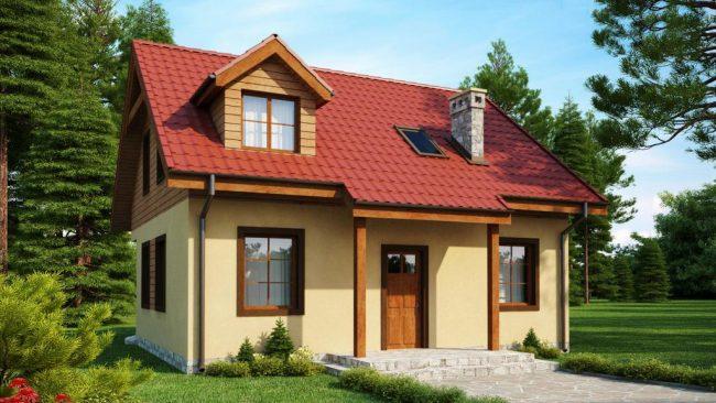 Projet de mini-maison au toit de tuiles