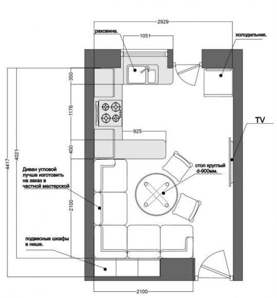 aménagement de la cuisine 11 m