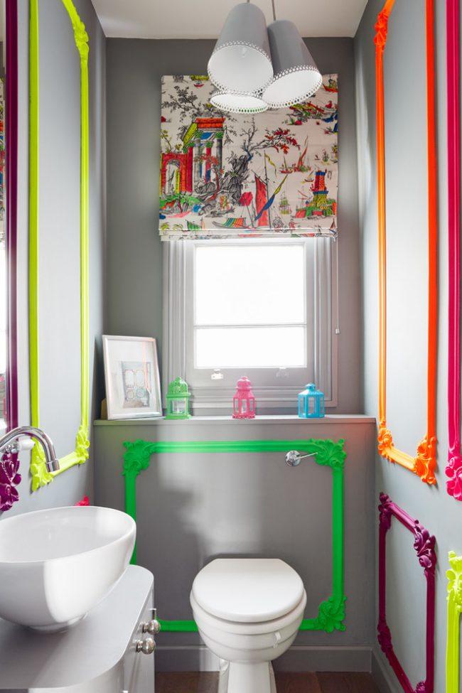 Des cadres lumineux de style éclectique animeront l'intérieur gris de la pièce