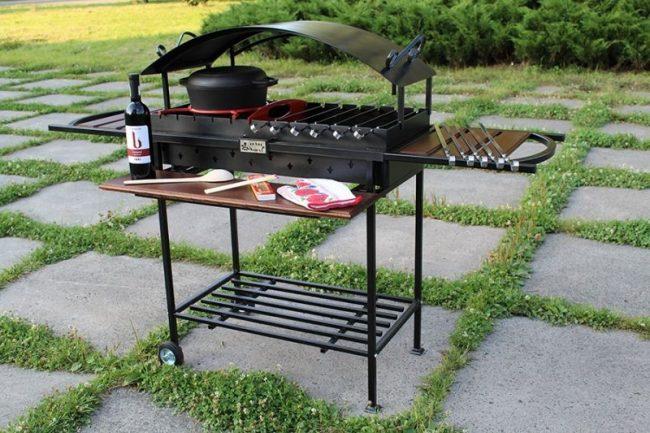 Barbecue portable pratique en métal