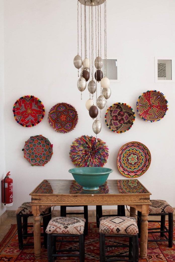 assiettes de décoration murale