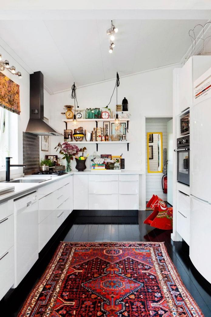 tapis oriental dans la cuisine