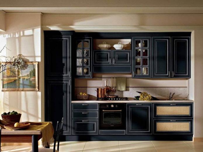Set de cuisine sombre