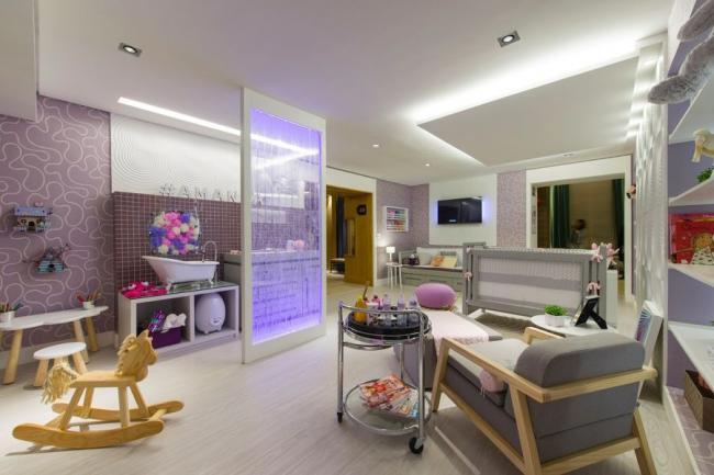 Zonage d'une pièce avec un plafond