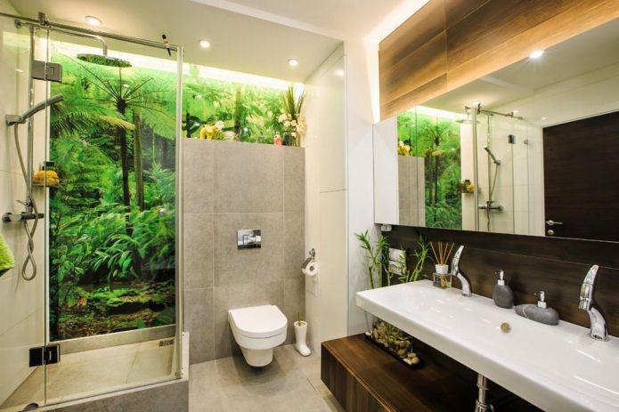 Eco-style dans un intérieur de salle de bain moderne