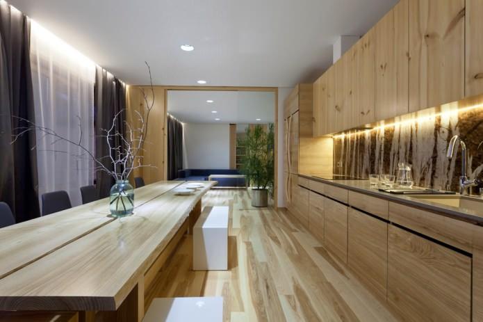 intérieur de cuisine de style éco
