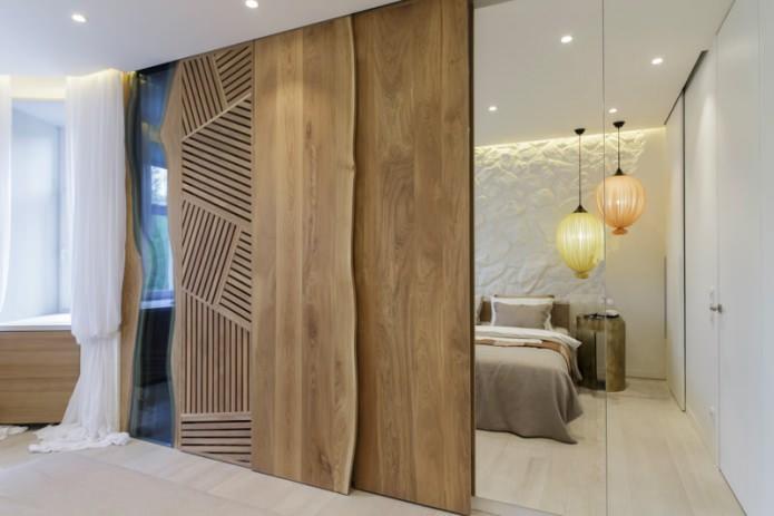 design d'intérieur de chambre à coucher de style écologique