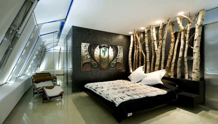 Conception de chambre à coucher de style écologique
