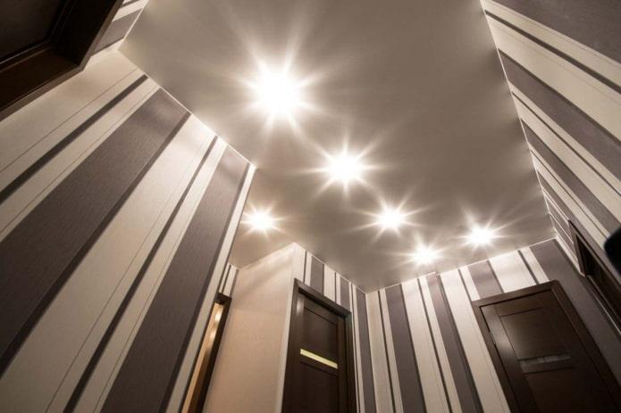 structure de plafond tendu gris