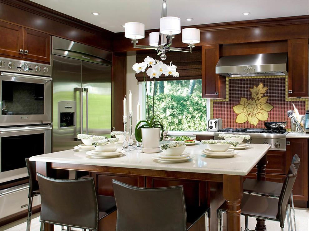 Le panneau doré sera un excellent décor pour votre cuisine