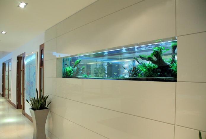 niche avec un aquarium à l'intérieur
